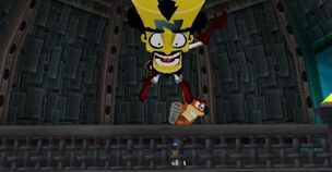 Crash kicks Cortex off