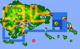 Southern Island Map