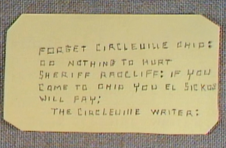 Letter from circleville writer