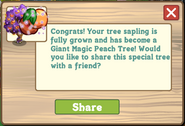 Giant Magic Peach Tree Message