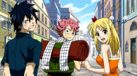 Gray Natsu and Lucy&#39;s reaction to punishment
