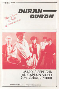 Poster duran duran paris 1981 captain video discogs wikipedia