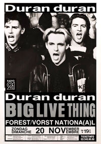 999 forest vorst national belgium concert live shows dates discography discogs duran duran 1988