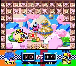 Kirby-super-star-king-dedede-gourmet-race