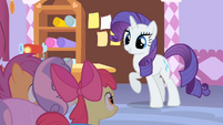 Rarity about to tell her cutie mark story S1E23
