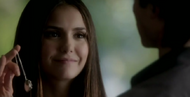 Katherine with Elena&#39;s necklace