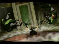 Kyoshi defeats Earth King&#39;s guards