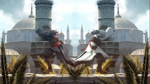 Ezio and Altair running