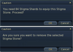 Equip stigma stones