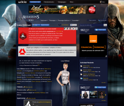 Captura de pantalla de Assassins Creed Wiki 18-noviembre de 2011