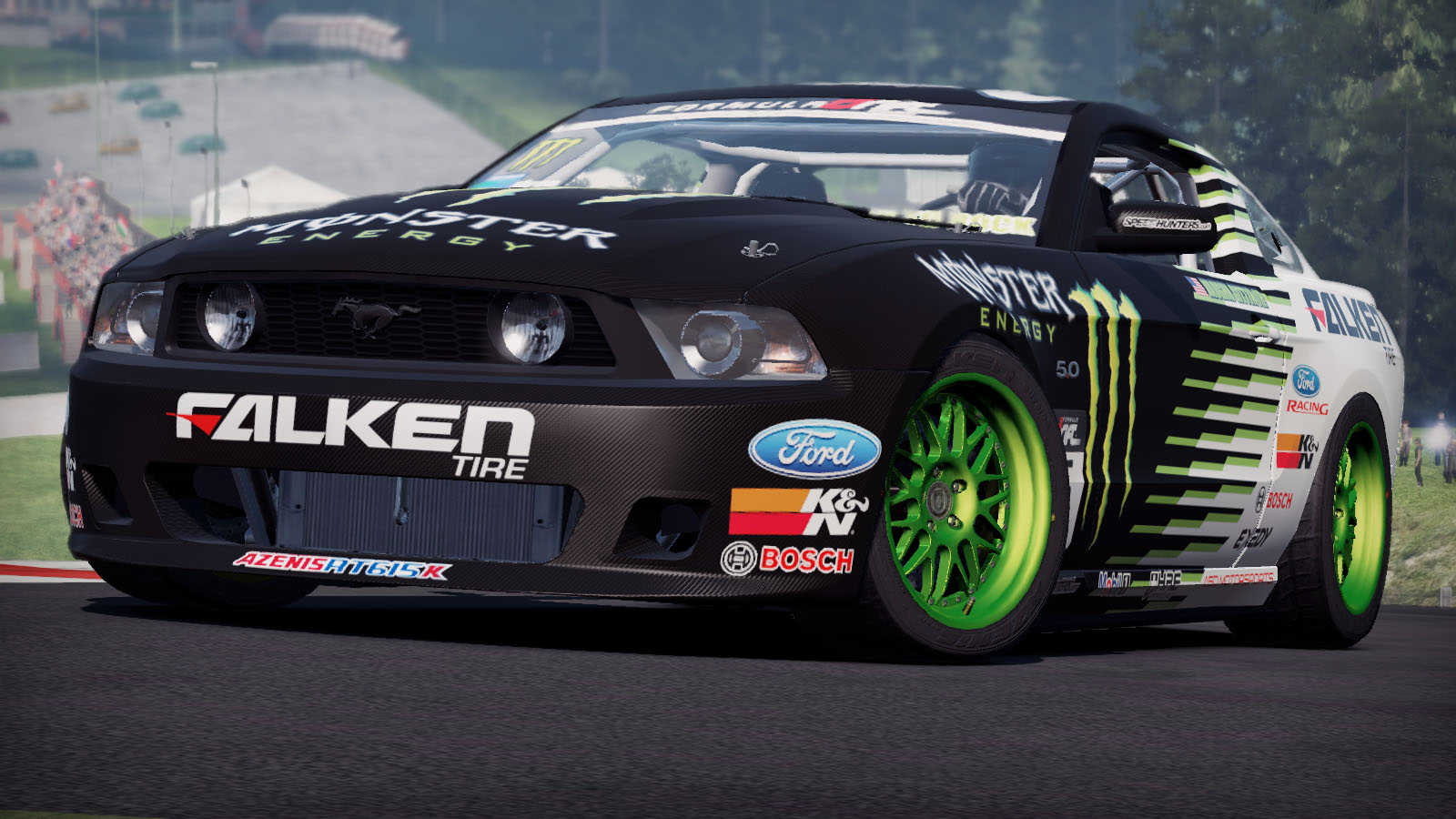 Monster Energy/Falken Tire Ford Mustang GT At The Need For .