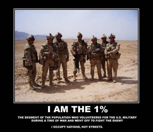 Troops the one percenters