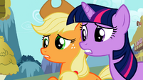 Applejack pleading with Zecora S02E06