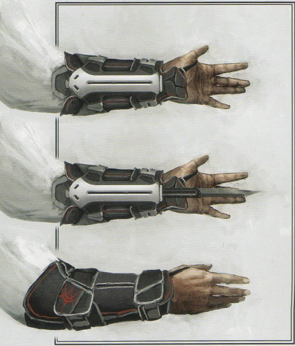 На одном из Американских сайтов были опубликованы зарисовки скрытого клинка возможно он будет в новой части серии.