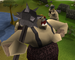 Close up of an ogre