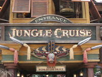 Jungle Cruise at Disneyland entrance