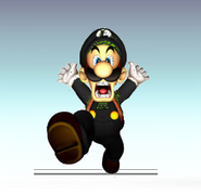 Black luigi smash bros