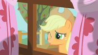 Applejack peering through window 4 S01E18