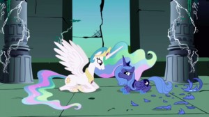 My little pony friendship is magic 1x02 friendship is magic part 2 elements of harmony princess celestia and princess luna-300x168