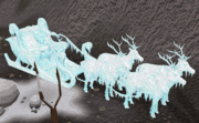 Frozen Santa and Sleigh
