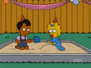 Anoop and Maggie in the sandbox