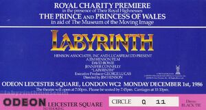 Labyrinth ticket