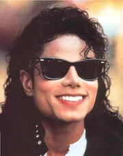 Michael jackson new hair style and sunglasses