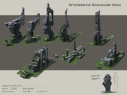 Wilderness boundary wall concept art