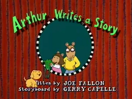 Arthur Writes a Story Title Card