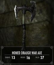 Honed Draugr War Axe
