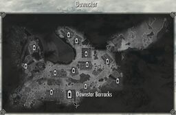 Dawnstar Barracks Location