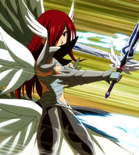 Erza against Meredy&#39;s blades