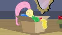 Fluttershy hiding in the box S02E11