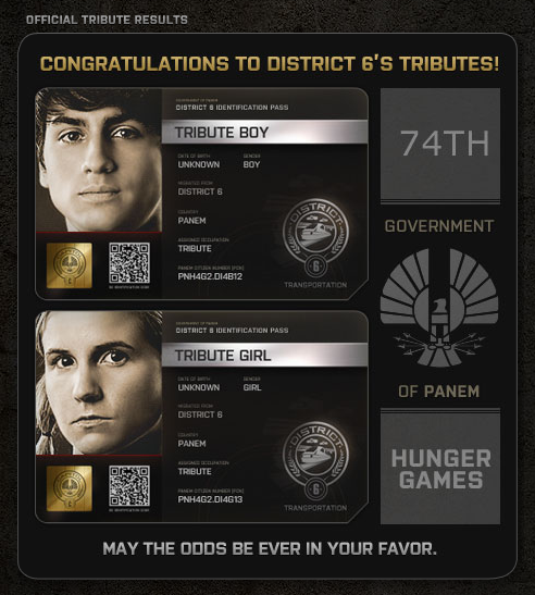 Hunger Games District 6 tributes