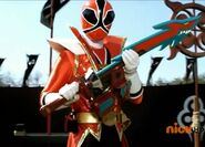 Red Samurai Ranger Shark Attack Mode
