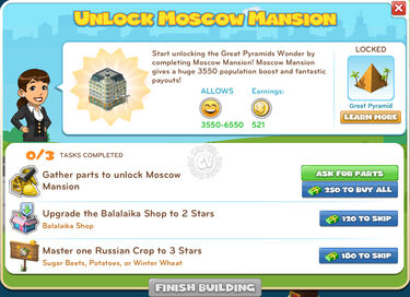 Unlock Moscow Mansion
