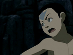 Aang hiding