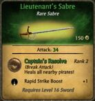 Lieutenant's Sabre fixed