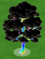 Tricked giant rainbow tree
