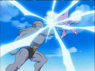EP404 Machamp usando golpe karate