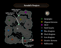 Kuradal dungeon map