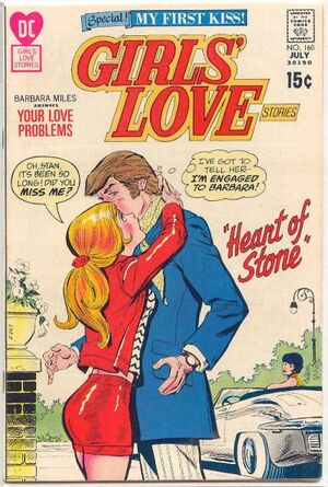 Cover for Girls' Love Stories #160