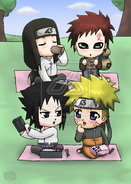 Naruto Chibis Lunch XD by Sabaku No Ale