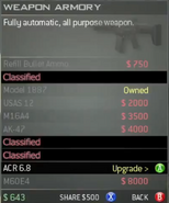 Survival Mode Screenshot Weapons Armory ACR 6.8 Upgrade
