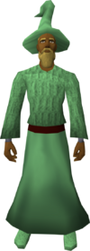Green robe set equipped