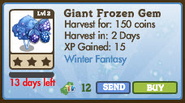 Giant Frozen Gem Fruit Tree Market Info