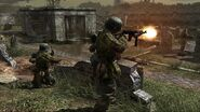 German soldiers fighting graveyard CoD3
