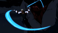 Aqualad removes an inhibitor collar