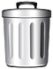 Garbage bin icon