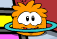 Orange puffle plauing again
